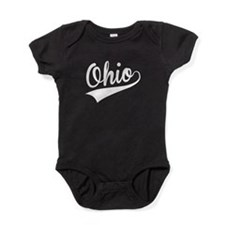 Ohio, Retro, Baby Bodysuit