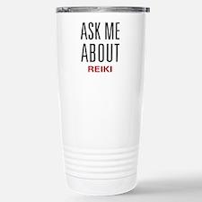 Ask Me About Reiki Travel Mug