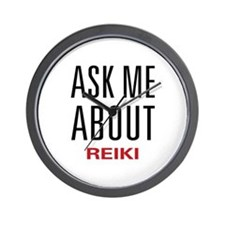 Ask Me About Reiki Wall Clock