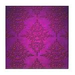 Vibrant Elegant Pink and Purple Damask Pattern Til