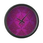 Vibrant Elegant Pink and Purple Damask Pattern Lar