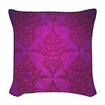 Vibrant Elegant Pink and Purple Damask Pattern Wov