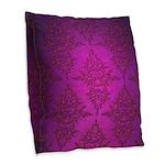 Vibrant Elegant Pink and Purple Damask Pattern Bur
