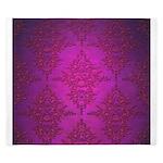 Vibrant Elegant Pink and Purple Damask Pattern Kin