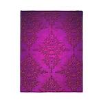 Vibrant Elegant Pink and Purple Damask Pattern Twi
