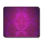 Vibrant Elegant Pink and Purple Damask Pattern Mou