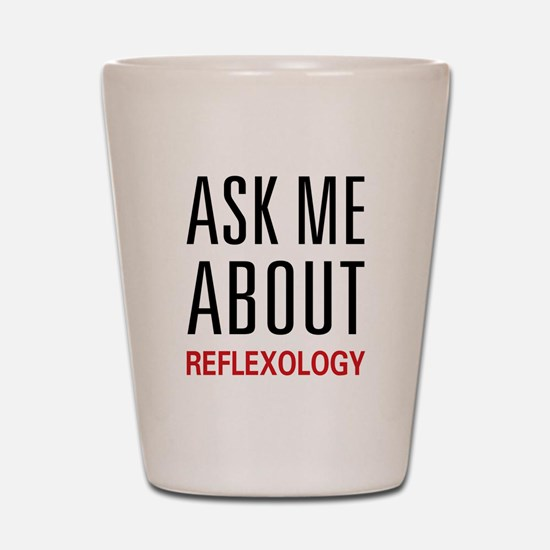 Ask Me Relexology Shot Glass