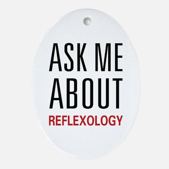 Ask Me Relexology Oval Ornament