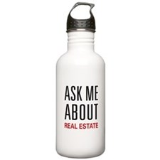 Ask Me Real Estate Water Bottle