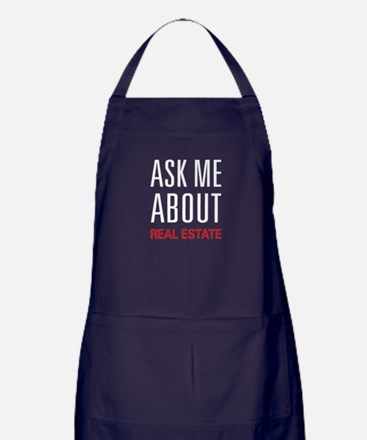 Ask Me About Real Estate Apron (dark)