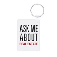 Ask Me About Real Estate Keychains