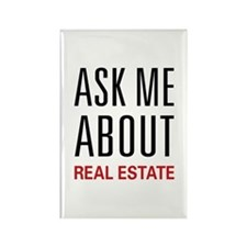 Ask Me Real Estate Rectangle Magnet