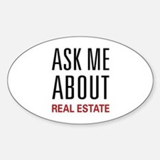 Ask Me Real Estate Oval Bumper Stickers