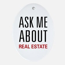 Ask Me Real Estate Oval Ornament