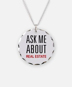 Ask Me About Real Estate Necklace