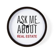 Ask Me Real Estate Wall Clock