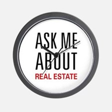 Ask Me Real Estate Wall Clock