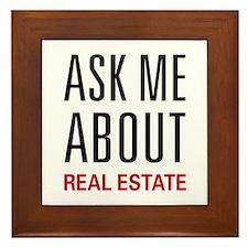 Ask Me Real Estate Framed Tile