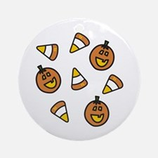 Halloween Candy Ornament (Round)