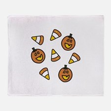 Halloween Candy Throw Blanket