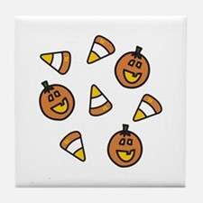 Halloween Candy Tile Coaster