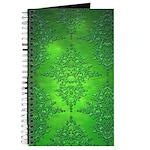 Bright Green Damask Pattern Journal