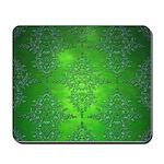 Bright Green Damask Pattern Mousepad