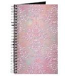Vintage Pink Aurora Borealis Damask pattern Journa