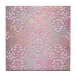 Vintage Pink Aurora Borealis Damask pattern Tile C