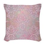 Vintage Pink Aurora Borealis Damask pattern Woven