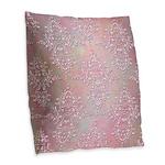 Vintage Pink Aurora Borealis Damask pattern Burlap