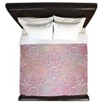 Vintage Pink Aurora Borealis Damask pattern King D