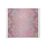 Vintage Pink Aurora Borealis Damask pattern Throw