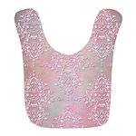 Vintage Pink Aurora Borealis Damask pattern Bib