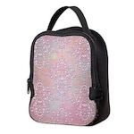 Vintage Pink Aurora Borealis Damask pattern Neopre
