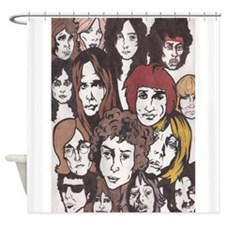 rock n roll 60s Shower Curtain