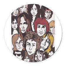 rock n roll 60s Round Car Magnet