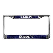 Funky Love Basenji License Plate Frame