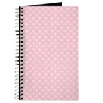 Pink and White Floral Damask Journal