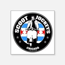 "SJ Chicago2 Square Sticker 3"" x 3"""