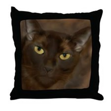 Cute Cat eyes Throw Pillow