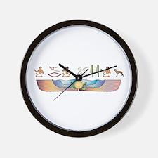 Manchester Hieroglyphs Wall Clock