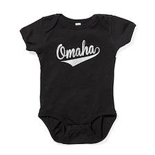 Omaha, Retro, Baby Bodysuit