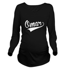 Omar, Retro, Long Sleeve Maternity T-Shirt