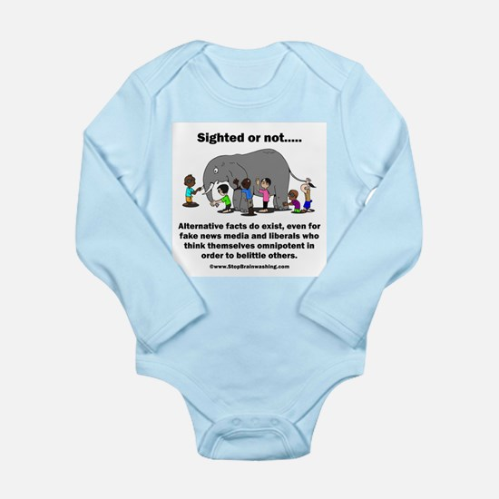 Alternative Facts do e Long Sleeve Infant Bodysuit