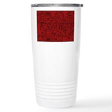 Abstract Geo Red Print Travel Coffee Mug