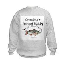 FISHING WITH GRANDMA Sweatshirt
