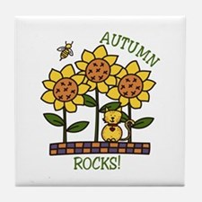 Autumn Rocks! Tile Coaster