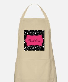 Personalizable Pink and Black Stars Apron