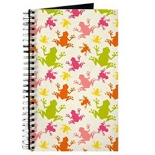 Cute Colorful Frogs Pattern Journal